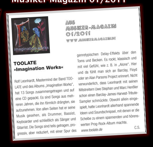 imagination works - musikermagazin 01/2011